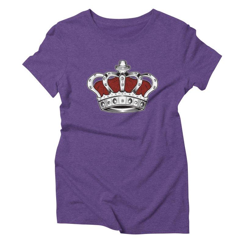 Crown - Red Women's Triblend T-shirt by adamzworld's Artist Shop
