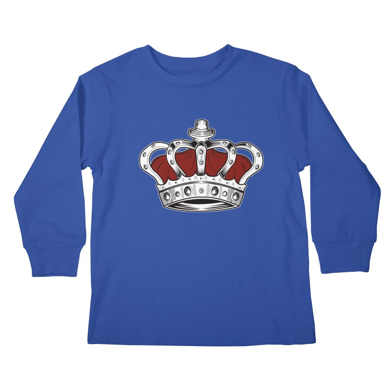 Crown - Red Kids Longsleeve T-Shirt by adamzworld's Artist Shop