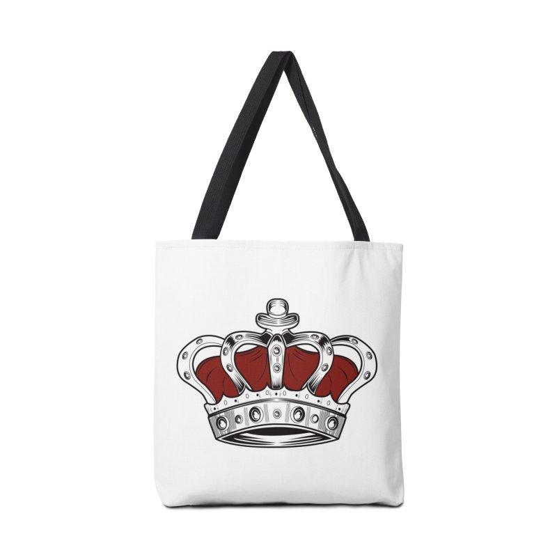 Crown - Red Accessories Bag by adamzworld's Artist Shop