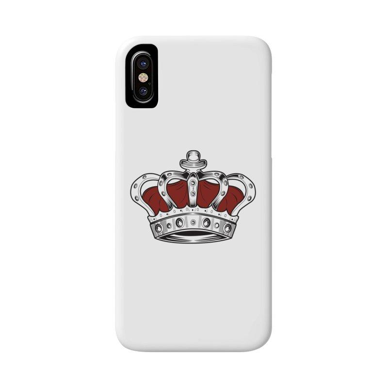 Crown - Red Accessories Phone Case by adamzworld's Artist Shop
