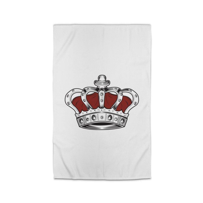 Crown - Red Home Rug by adamzworld's Artist Shop