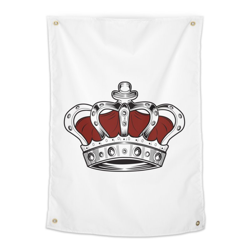 Crown - Red Home Tapestry by adamzworld's Artist Shop