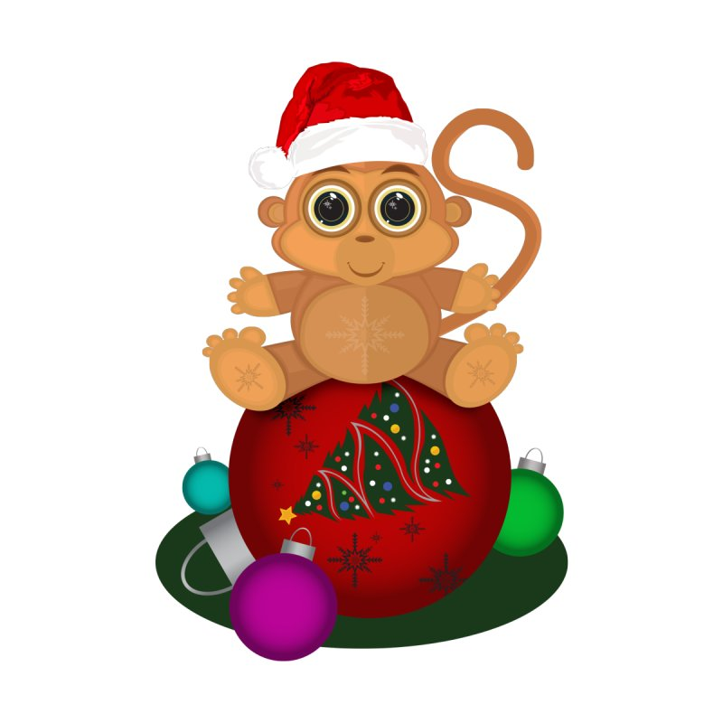 Christmas Monkey by adamzworld's Artist Shop