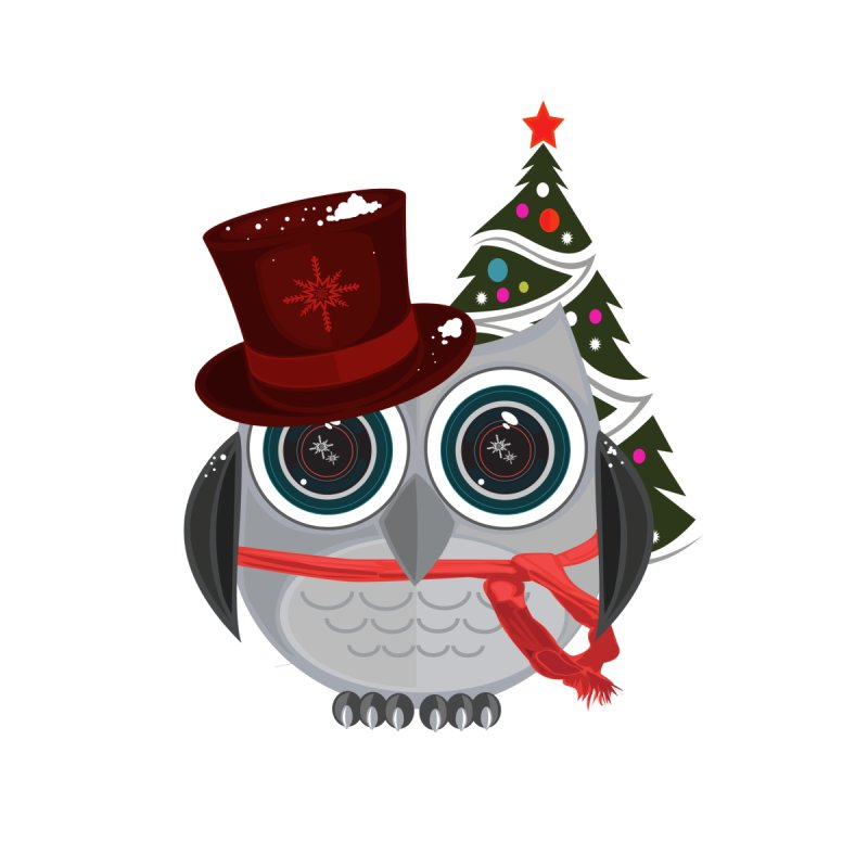 Top Hat Owl - Christmas by adamzworld's Artist Shop