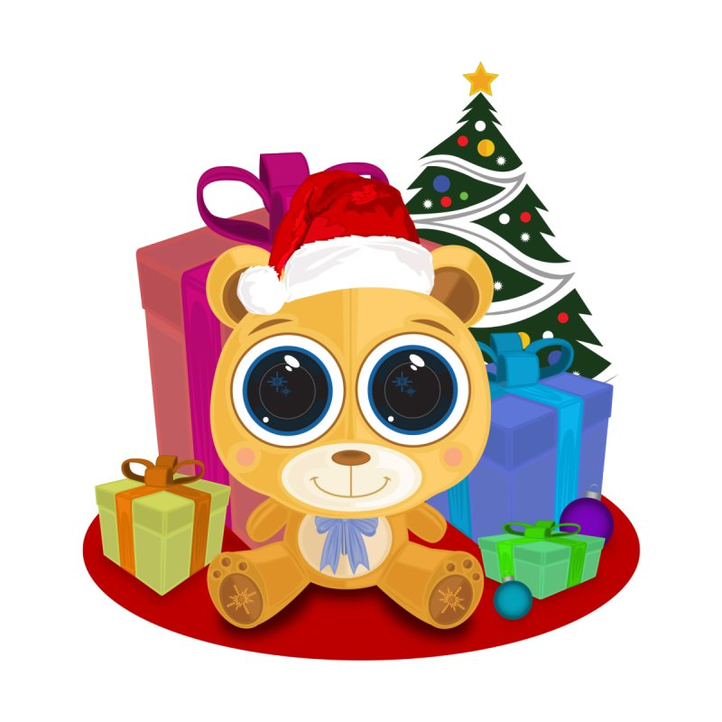 Christmas Teddy Bear by adamzworld's Artist Shop