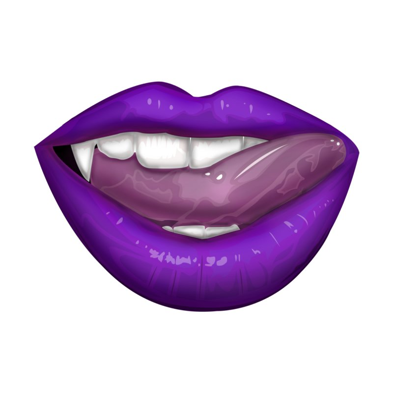 VAMPIRE LIPS - PURPLE by adamzworld's Artist Shop