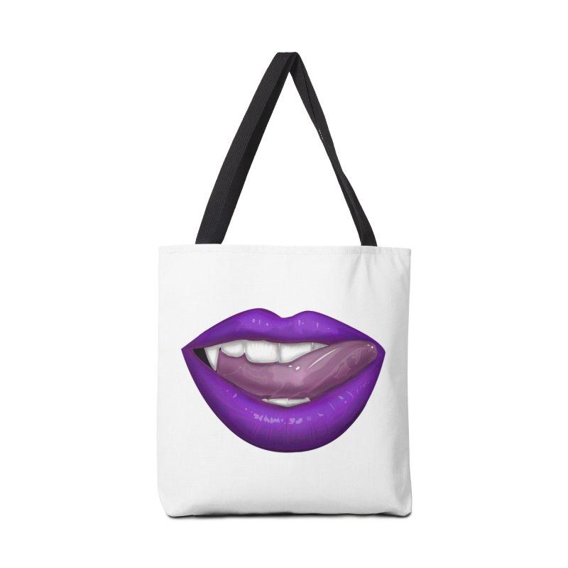 VAMPIRE LIPS - PURPLE Accessories Bag by adamzworld's Artist Shop