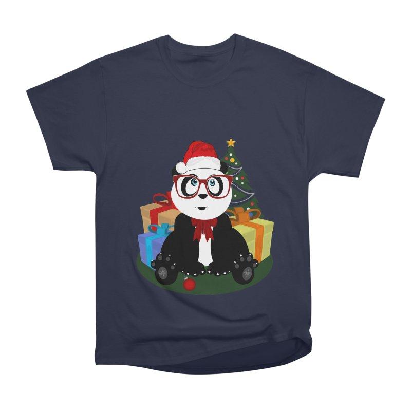 Christmas - Panda Nerd Women's Heavyweight Unisex T-Shirt by adamzworld's Artist Shop