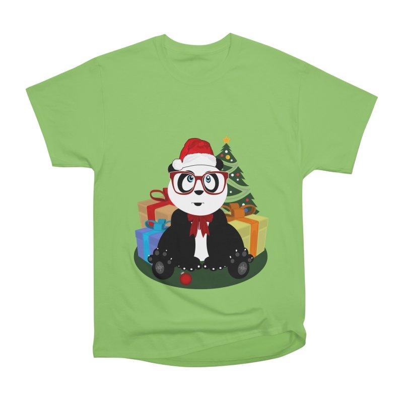 Christmas - Panda Nerd Men's Heavyweight T-Shirt by adamzworld's Artist Shop