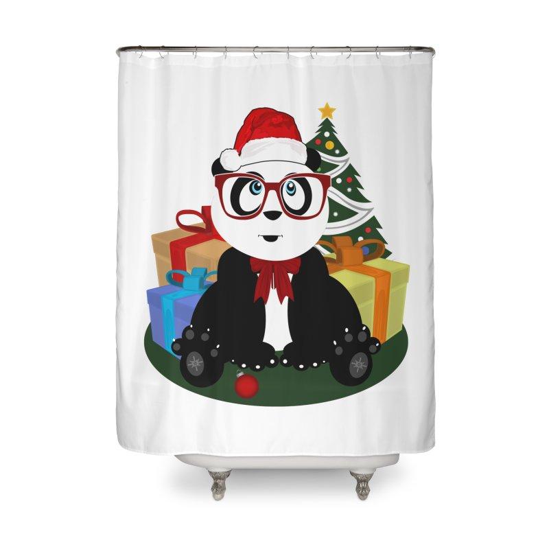 Christmas - Panda Nerd Home Shower Curtain by adamzworld's Artist Shop