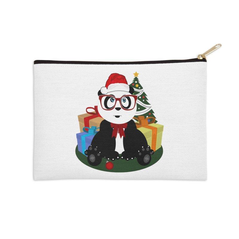 Christmas - Panda Nerd Accessories Zip Pouch by adamzworld's Artist Shop