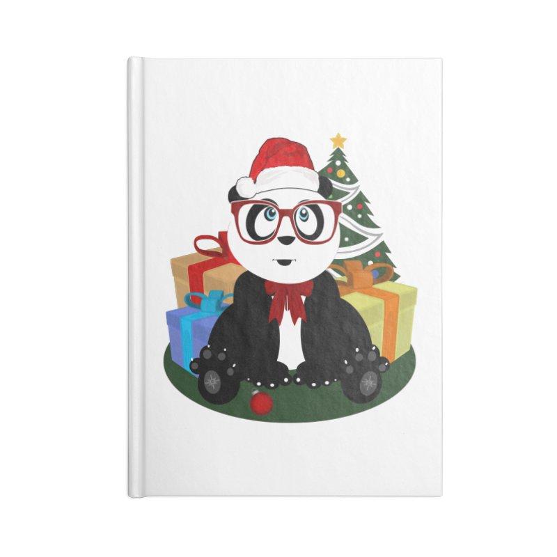 Christmas - Panda Nerd Accessories Notebook by adamzworld's Artist Shop