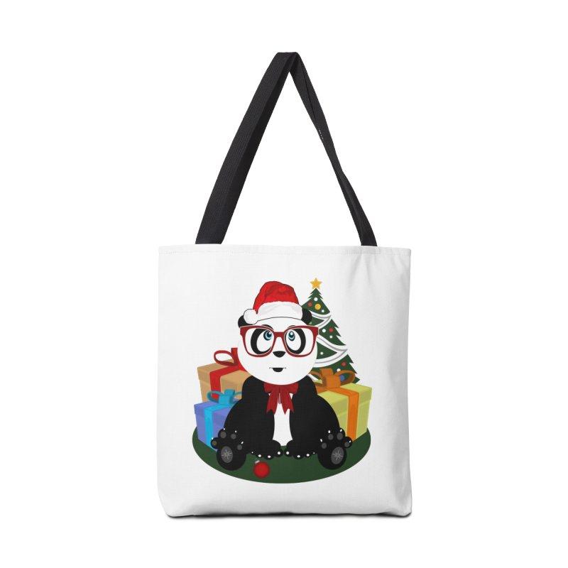 Christmas - Panda Nerd Accessories Bag by adamzworld's Artist Shop