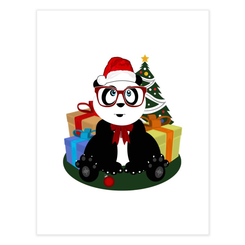 Christmas - Panda Nerd Home Fine Art Print by adamzworld's Artist Shop