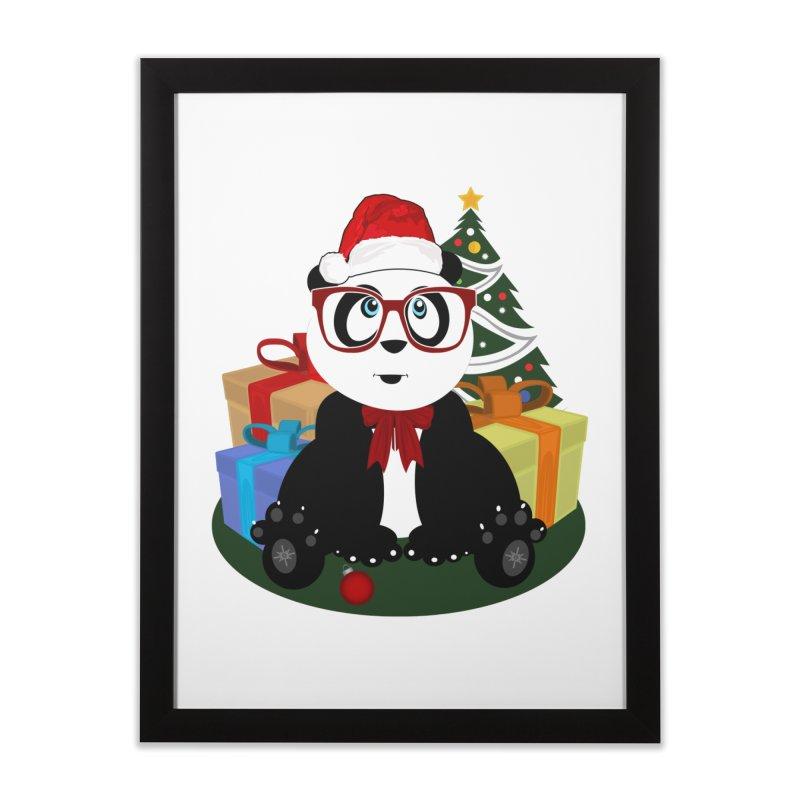 Christmas - Panda Nerd Home Framed Fine Art Print by adamzworld's Artist Shop
