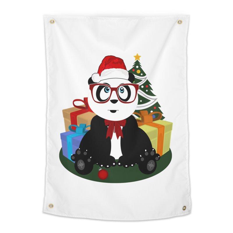 Christmas - Panda Nerd Home Tapestry by adamzworld's Artist Shop
