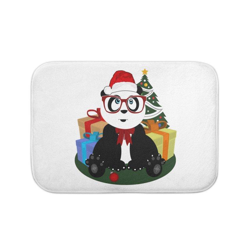 Christmas - Panda Nerd Home Bath Mat by adamzworld's Artist Shop