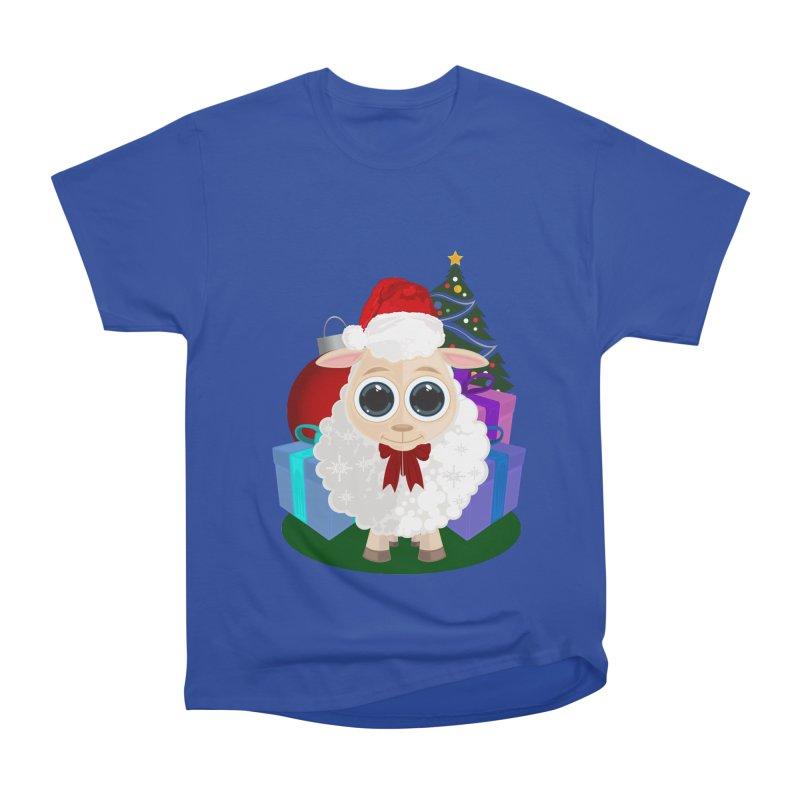 Christmas Sheep Women's Heavyweight Unisex T-Shirt by adamzworld's Artist Shop