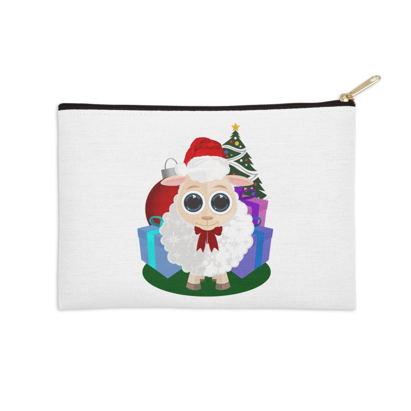 Christmas Sheep Accessories Zip Pouch by adamzworld's Artist Shop