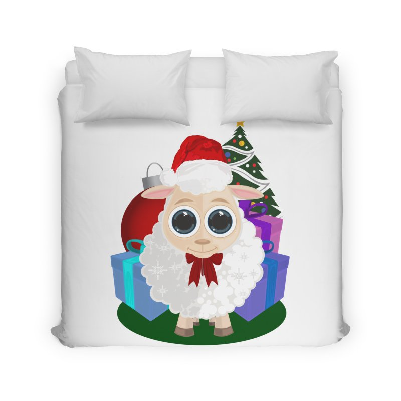 Christmas Sheep Home Duvet by adamzworld's Artist Shop