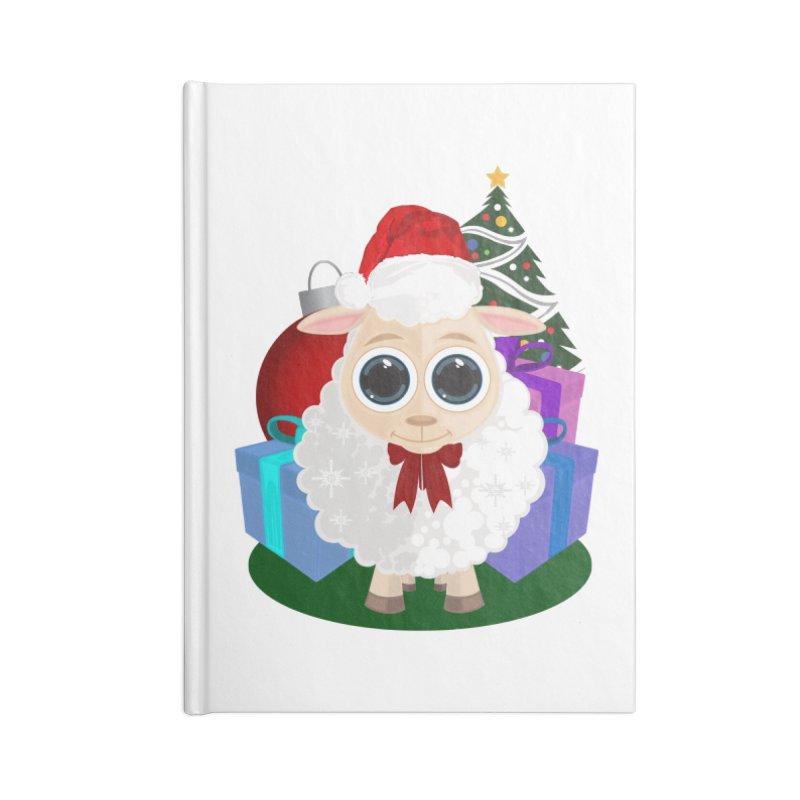 Christmas Sheep Accessories Notebook by adamzworld's Artist Shop