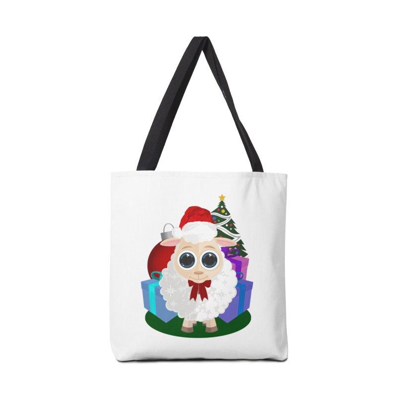 Christmas Sheep Accessories Bag by adamzworld's Artist Shop