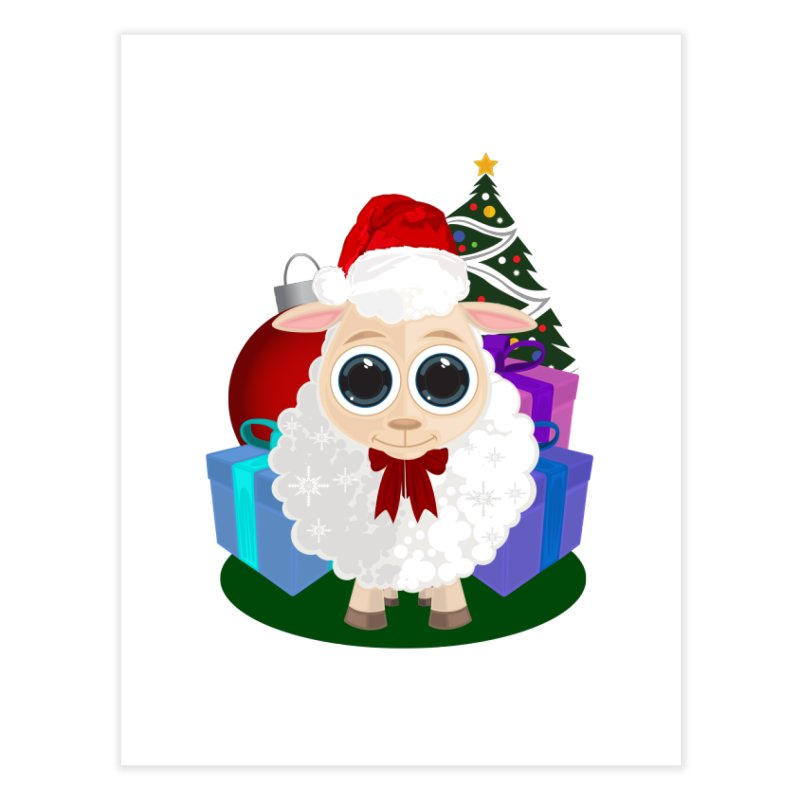Christmas Sheep Home Fine Art Print by adamzworld's Artist Shop