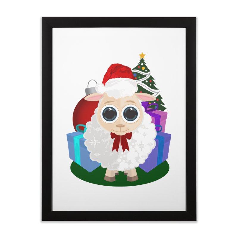 Christmas Sheep Home Framed Fine Art Print by adamzworld's Artist Shop