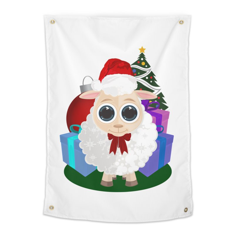 Christmas Sheep Home Tapestry by adamzworld's Artist Shop