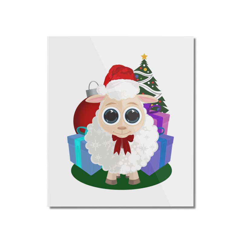 Christmas Sheep Home Mounted Acrylic Print by adamzworld's Artist Shop