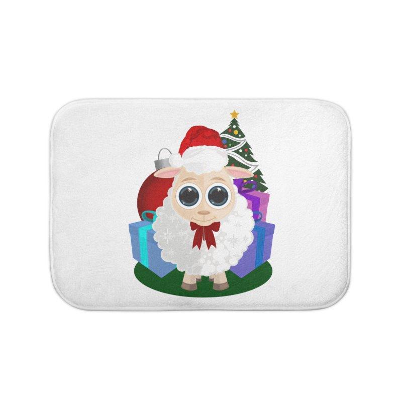 Christmas Sheep Home Bath Mat by adamzworld's Artist Shop