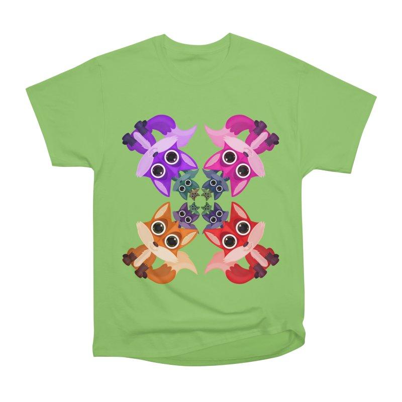 Fox Crowd Men's Heavyweight T-Shirt by adamzworld's Artist Shop