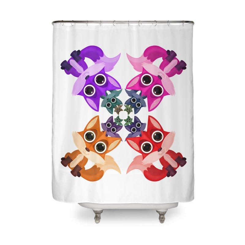 Fox Crowd Home Shower Curtain by adamzworld's Artist Shop