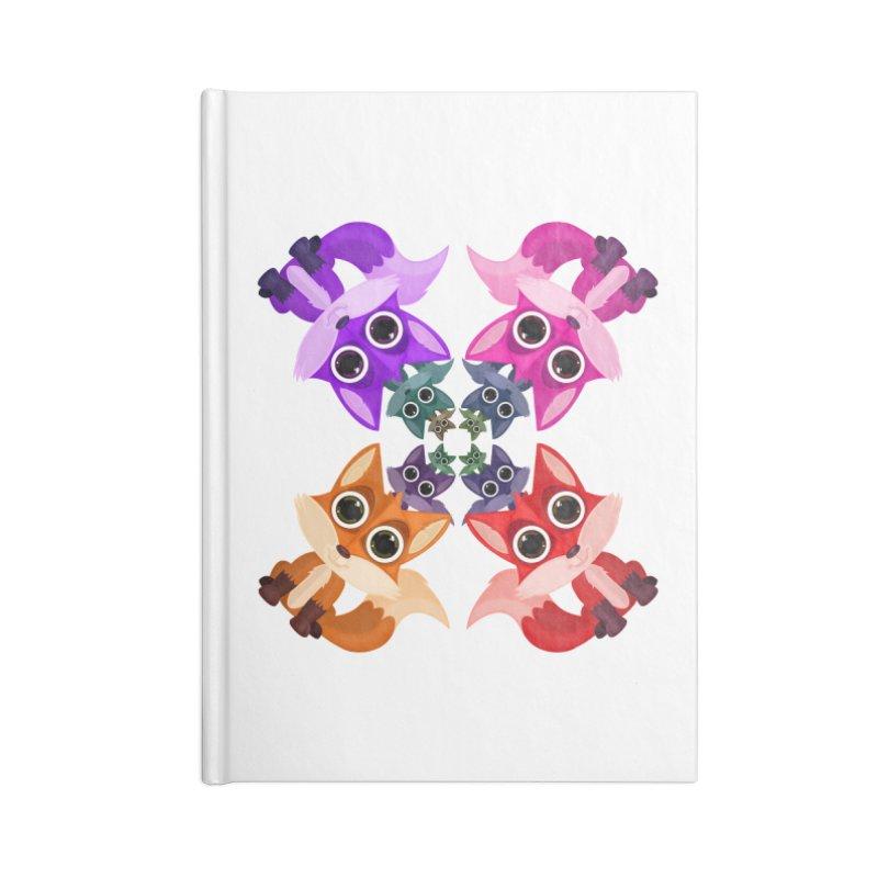 Fox Crowd Accessories Notebook by adamzworld's Artist Shop