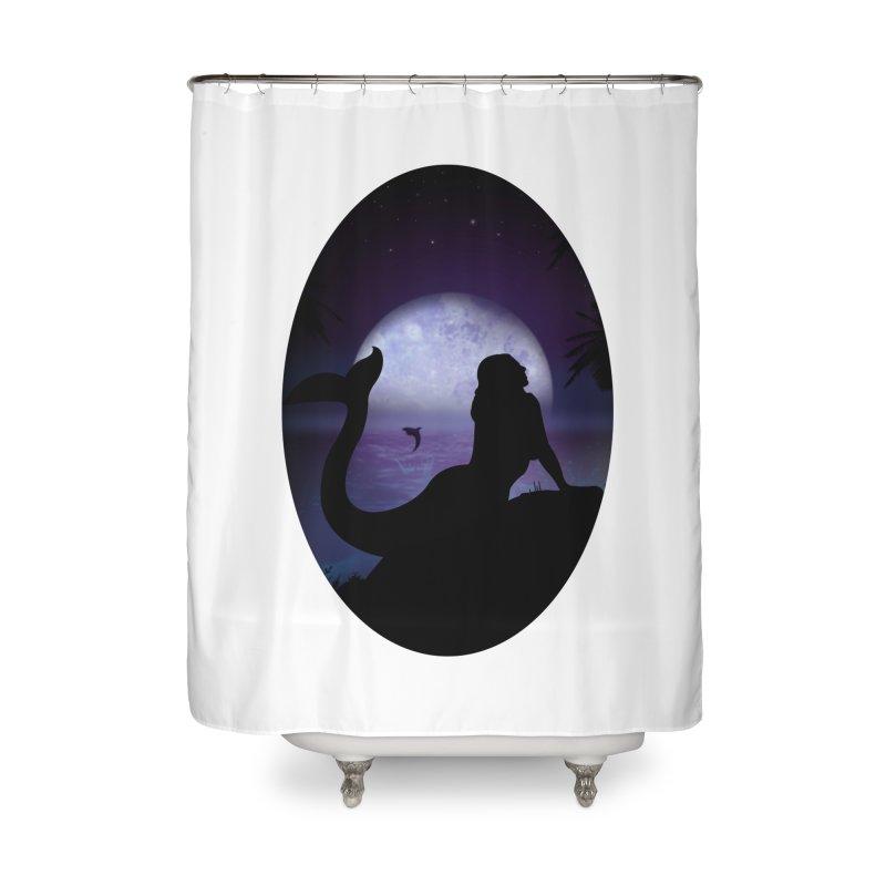 Mermaid Home Shower Curtain by adamzworld's Artist Shop