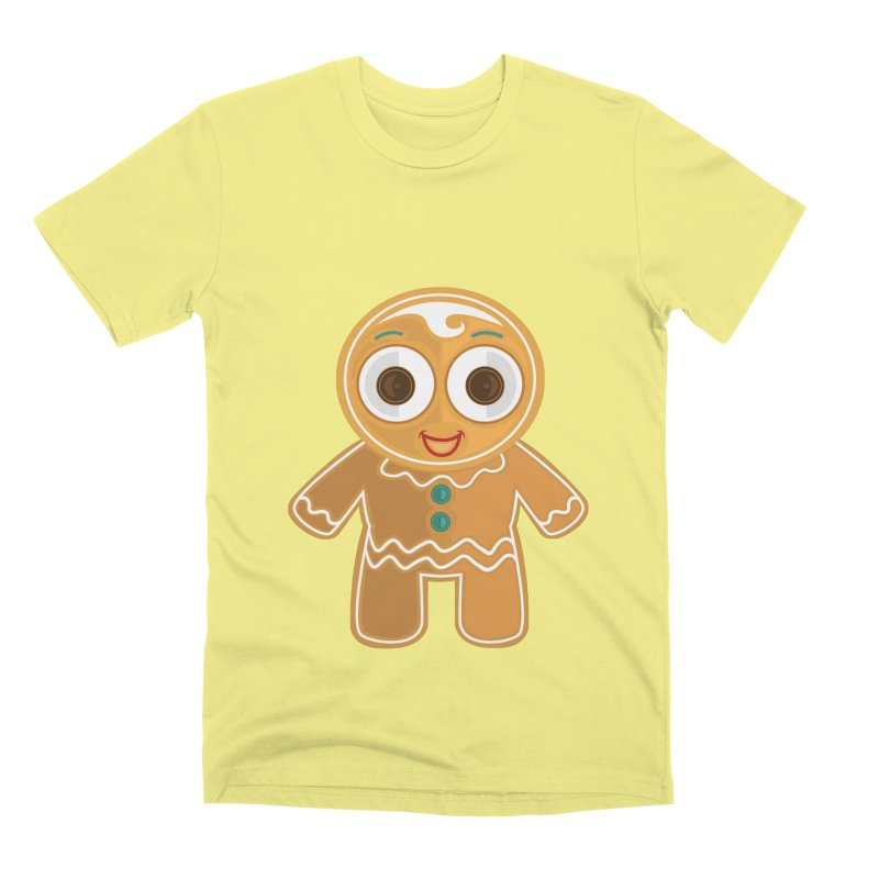 Ginger Bread Man Men's Premium T-Shirt by adamzworld's Artist Shop