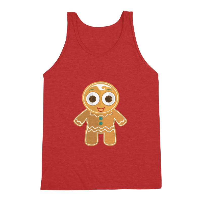 Ginger Bread Man Men's Triblend Tank by adamzworld's Artist Shop