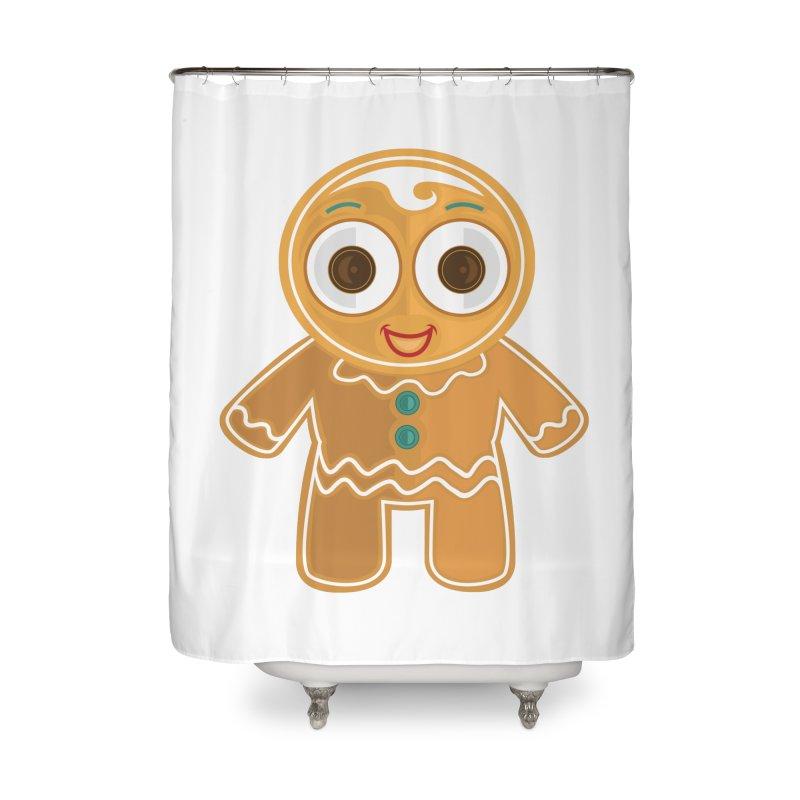 Ginger Bread Man Home Shower Curtain by adamzworld's Artist Shop