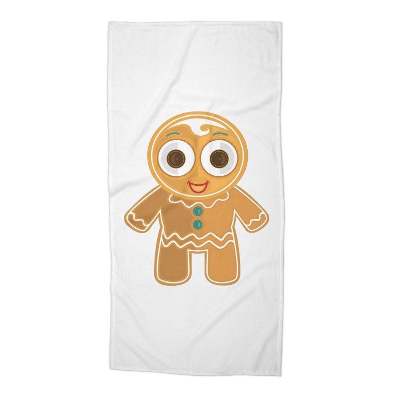 Ginger Bread Man Accessories Beach Towel by adamzworld's Artist Shop