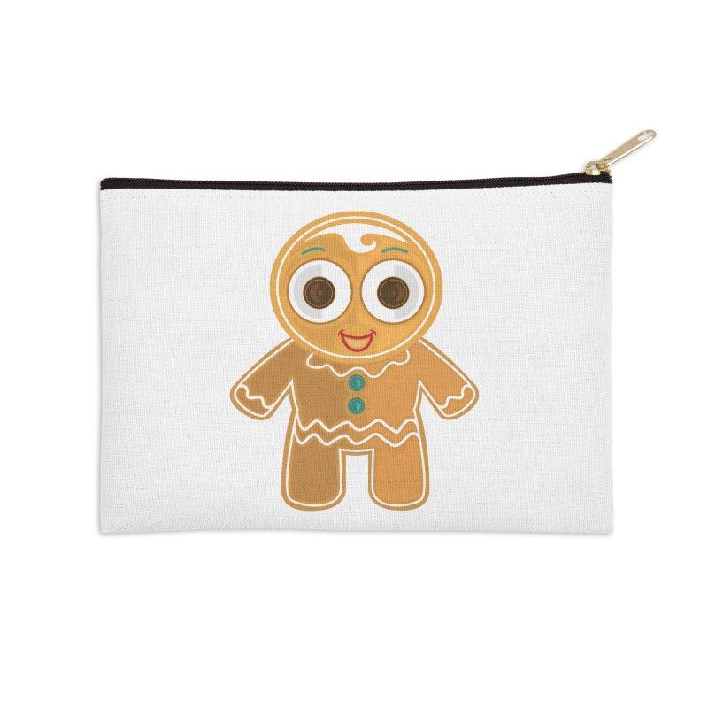 Ginger Bread Man Accessories Zip Pouch by adamzworld's Artist Shop