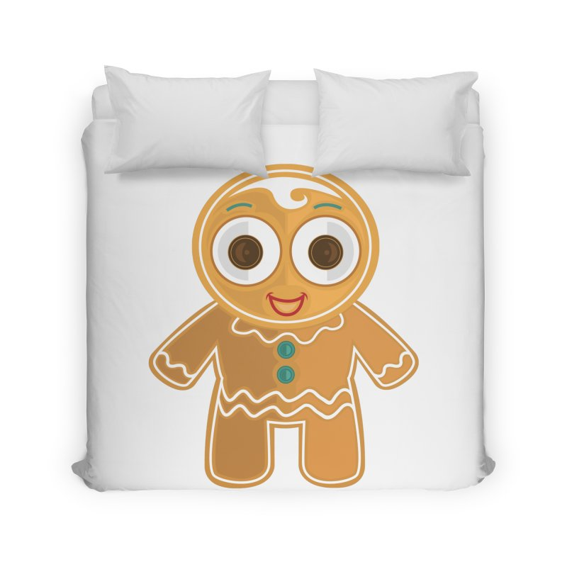 Ginger Bread Man Home Duvet by adamzworld's Artist Shop