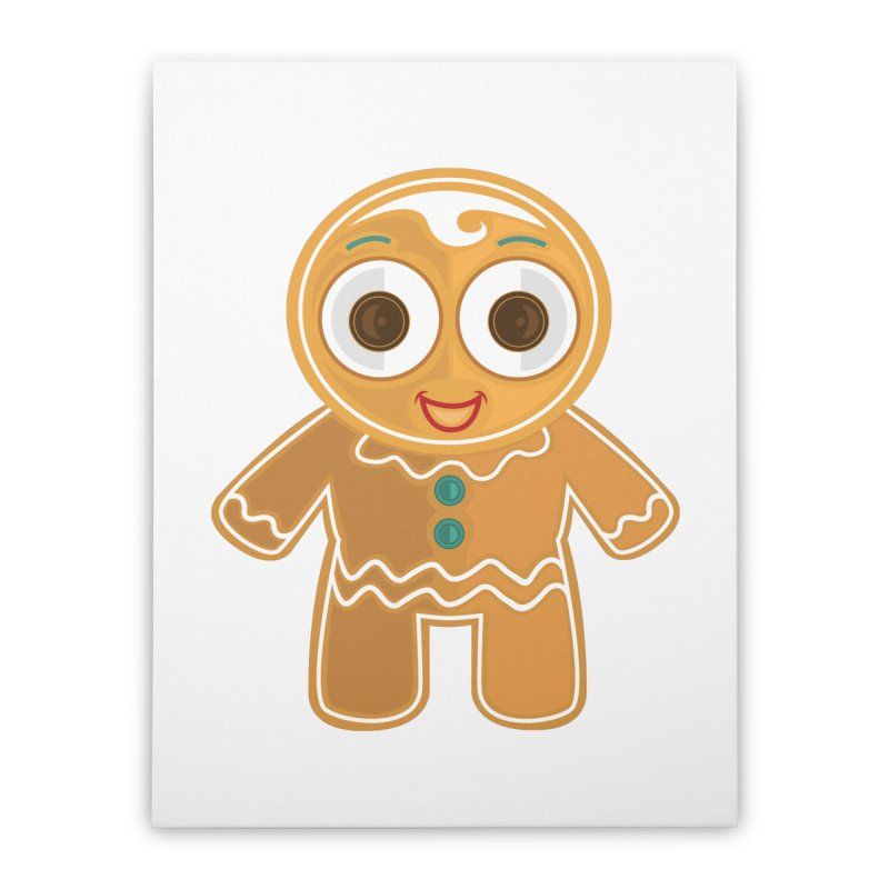Ginger Bread Man Home Stretched Canvas by adamzworld's Artist Shop