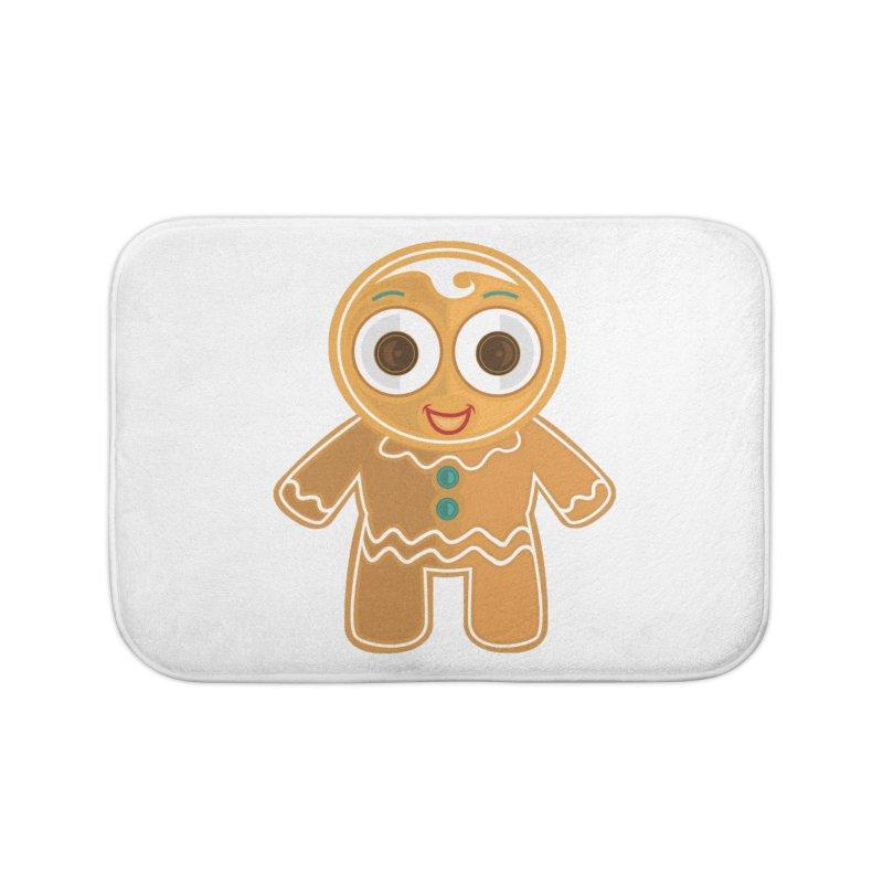 Ginger Bread Man Home Bath Mat by adamzworld's Artist Shop