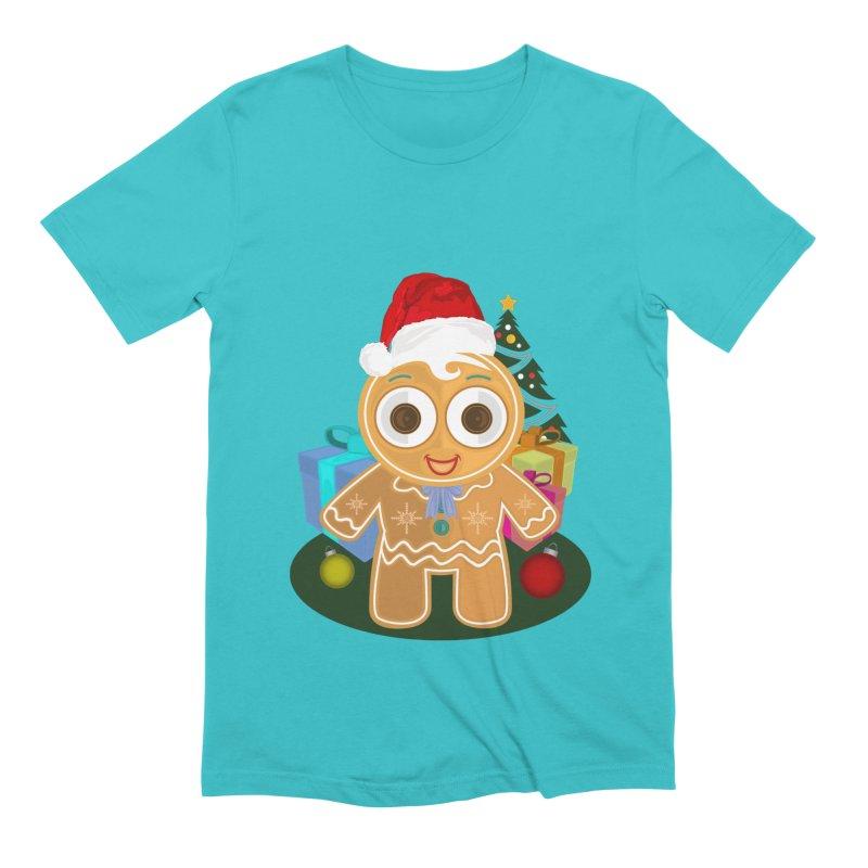 Ginger Bread Man Christmas Men's Extra Soft T-Shirt by adamzworld's Artist Shop