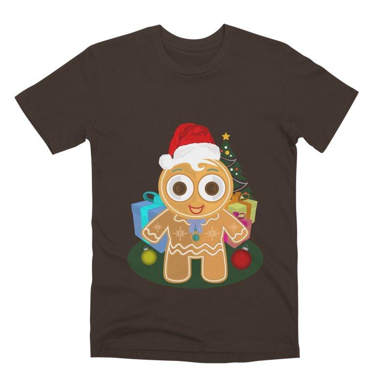 Ginger Bread Man Christmas Men's Premium T-Shirt by adamzworld's Artist Shop