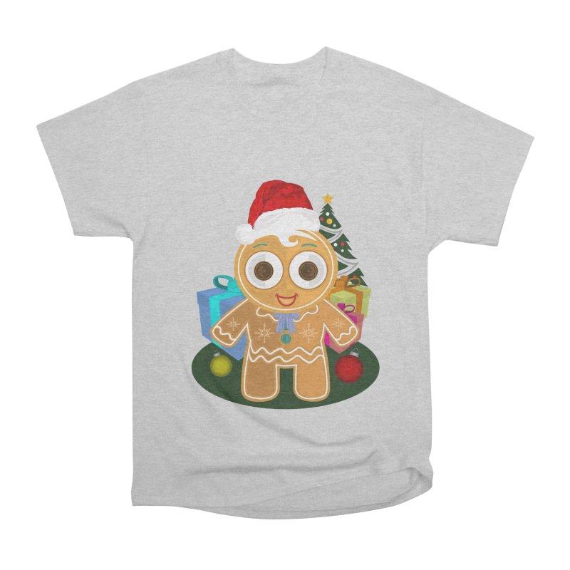 Ginger Bread Man Christmas Women's Heavyweight Unisex T-Shirt by adamzworld's Artist Shop