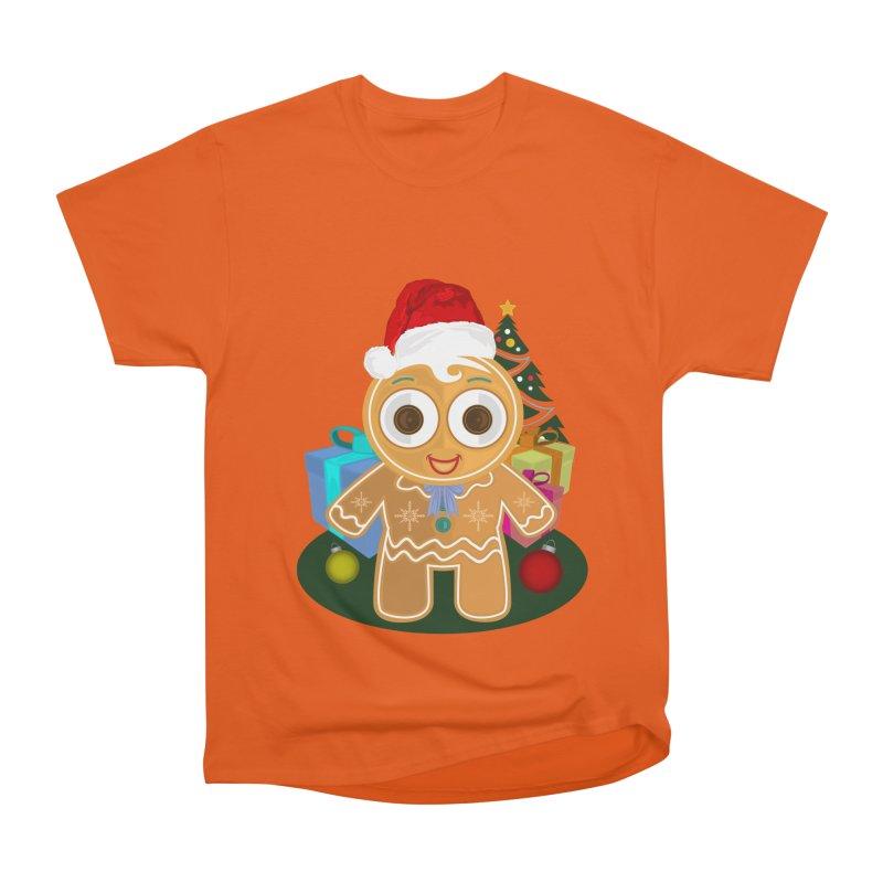 Ginger Bread Man Christmas Men's Heavyweight T-Shirt by adamzworld's Artist Shop