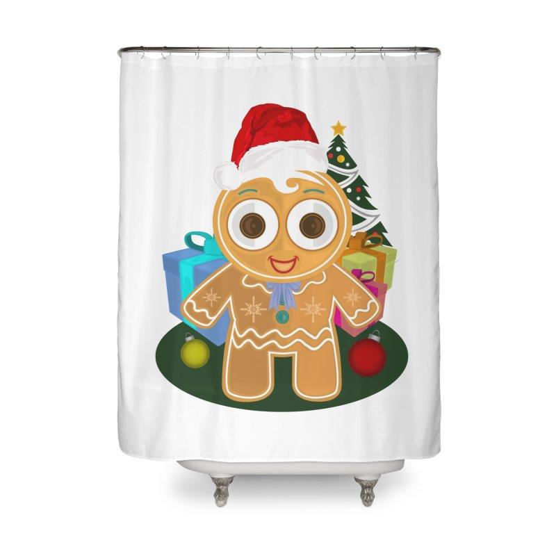 Ginger Bread Man Christmas Home Shower Curtain by adamzworld's Artist Shop
