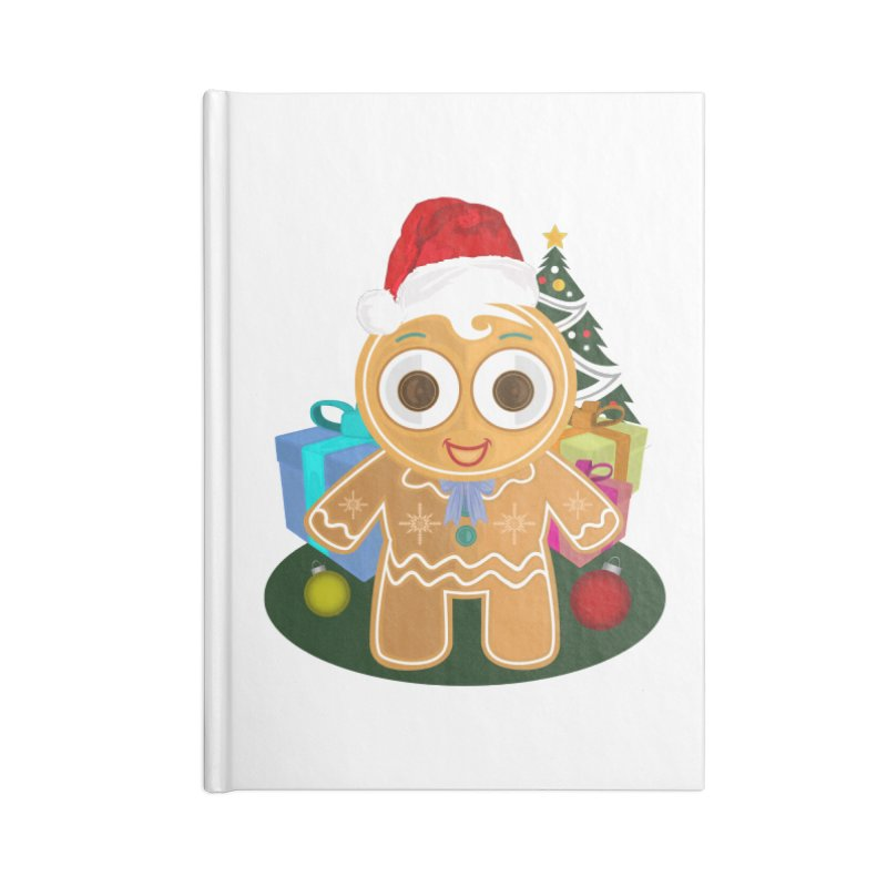 Ginger Bread Man Christmas Accessories Notebook by adamzworld's Artist Shop