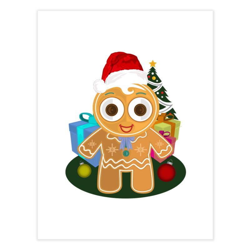 Ginger Bread Man Christmas Home Fine Art Print by adamzworld's Artist Shop
